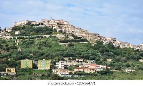 historic village Nicotera in Calabria,Italy