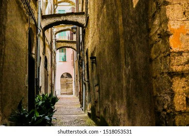 Historic village of Pieve di Teco dating back to 1400, Liguria, houses and architecture