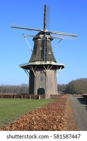 Historic Vilstere Windmill in the Province Overijssel, The Netherlands, built 1858