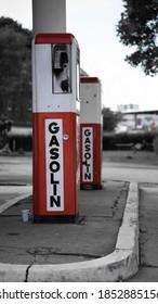 Historic, vintage Gasstation in Hamburg