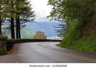 Historic Vista House on Crown Point along Old Columbia Highway in Oregon