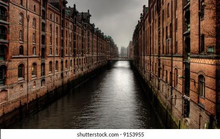 Historic warehouse district of Hamburg, Germany