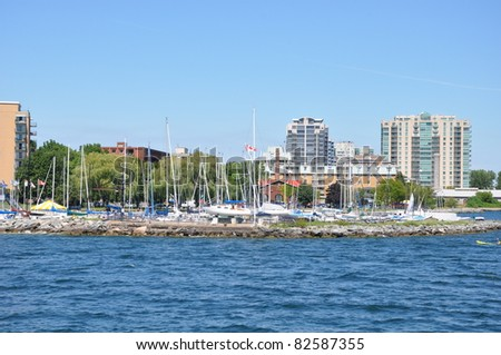 Historic Waterfront of Kingston, Ontario in Canada
