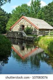 Historic Wayside Inn Grist Mill in Sudbury, Massachusetts