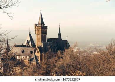Historic Wernigerode castle at sunrise