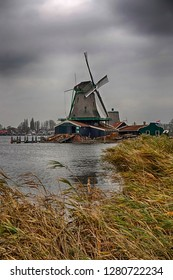 Historic windmill village near Amsterdam