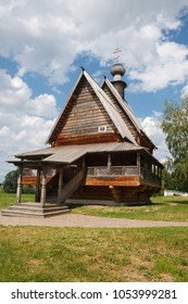 Historic wooden architecture of the Russian city of Suzdal.