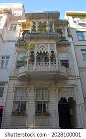 An historic wooden building in the residential Moda neighbourhood of Kadikoy in Istanbul, Turkey - Shutterstock ID 2028100001