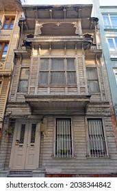 An historic wooden building in the residential Moda neighbourhood of Kadikoy in Istanbul, Turkey - Shutterstock ID 2038344842