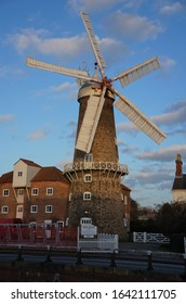 The historic working windmill by the Maud Foster Drain. BOSTON Lincolnshire UK - ‎February ‎09 ‎2020