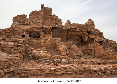 Historic Wupatki Ruin at Wupatki National Monument in Arizona.