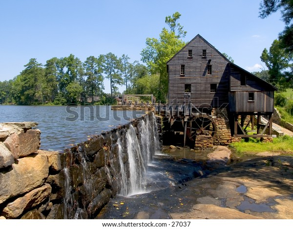 Historic Yates Mill Park in Raleigh, North Carolina.  The Yates Mill Renovation Project