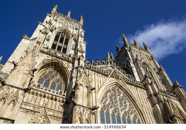The historic York Minster in the city of York, England.