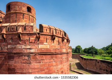 Historical Agra Fort of the Mughal dynasty emperors, a UNESCO World Heritage site in Agra, Uttar Pradesh, India
