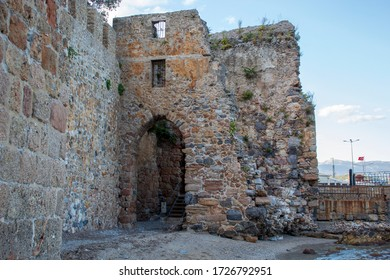 historical alanya castle and red tower