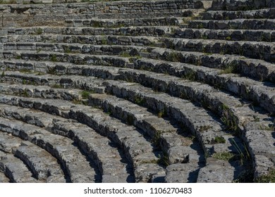 Historical amphitheater in Sicily, Italy