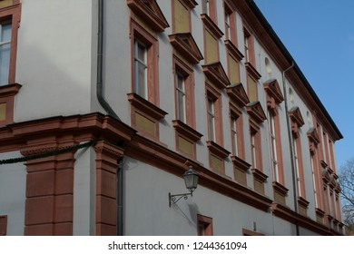 Historical architecture of the town of Bayreuth. Pedestrian area. Germany