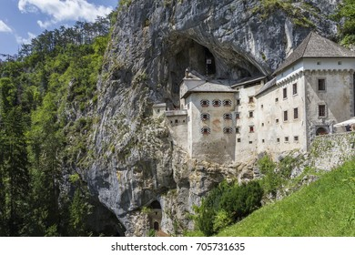 Historical astle built within a cave mouth.