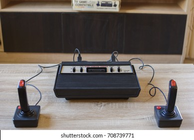 The historical Atari 2600 Video Computer System running at 1.19 MHz with 128 bytes rom. This home video game console by Atari INC has become the status symbol of retro video gaming.