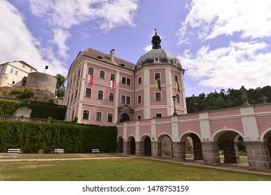 An historical baroque castle in Czechg republic - Bečov nad Teplou.