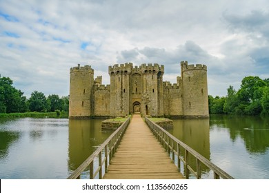 The historical Bodiam Castle at West Sussex, United Kingdom