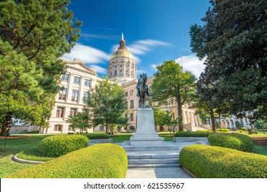 Historical building, Atlanta Georgia State Capital in USA
