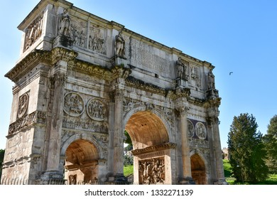 Historical Building from different View Corner near Coloseum in Rome CIty, Italy