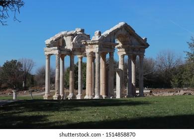 a historical building in karacasu - Shutterstock ID 1514858870
