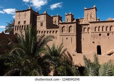 Historical building of Kasbah Amridil in Skoura, built in a traditional style