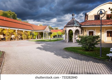 Historical building on spa island Piestany