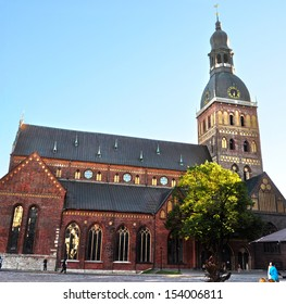 Historical building of Riga Dome Cathedral, Latvia.