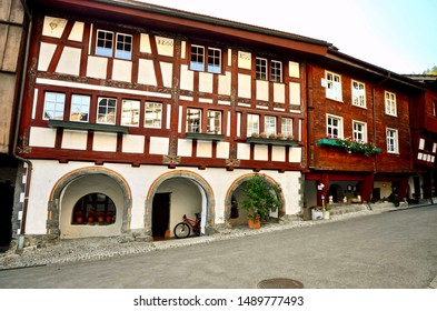 Historical buildings in aldtadt (old town) of the medieval township of Buchs in St. Gallen, Switzerland