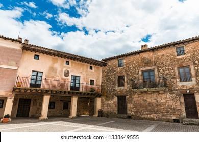 Historical buildings around the Plaza Mayor (main square) of Medinaceli in Soria, Spain.