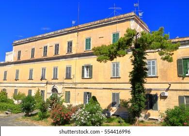Historical buildings on Terra Murata on the island of Procida, Italy