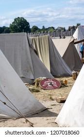 Historical camp of Slavs and Vikings