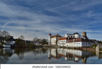 the historical castle complex, the town of Jindrichuv Hradec, the southern Bohemia, the Czech Republic