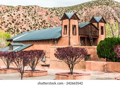 The historical catholic chapel of Santuario de Nuestro Senor de Esquipulas, in Chimayo, New Mexico, was built In 1816