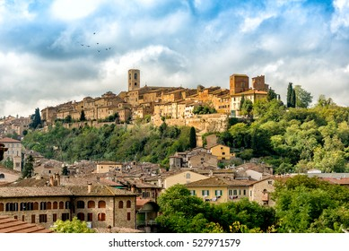 Historical center of Colle di Val d'Elsa, a medieval town in the province of Siena, Tuscany, Italy