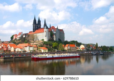 historical center of Meissen and Burgberg in saxony, Germany