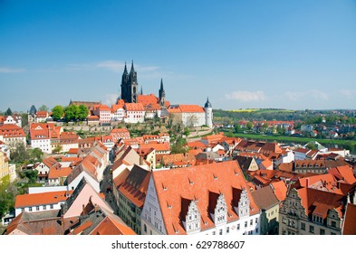 historical center of Meissen in saxony, Germany