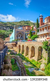 Historical center of old Tbilisi, sulphur baths and Juma mosque, old Tbilisi, Georgia
