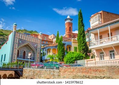 Historical center of old Tbilisi, sulphur baths and Juma mosque, Georgia