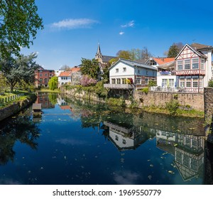The historical centre of Essen Kettwig at the Ruhr river, Germany