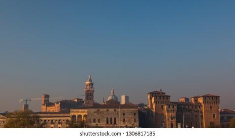 Historical centre of Mantua (Mantova), Italy