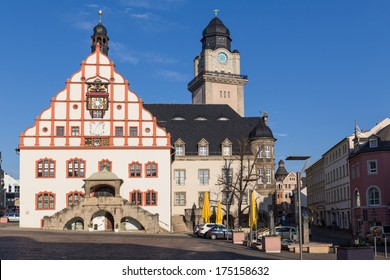 Historical centre of Plauen, Saxony, Germany