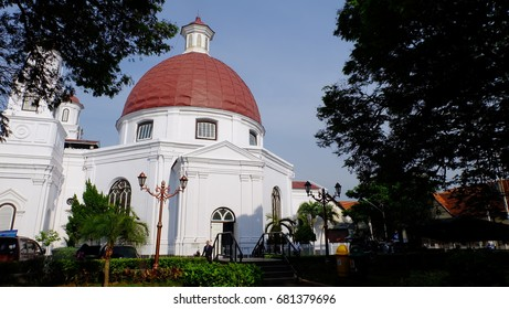 Historical church as the part of the old town in Semarang, Central Java, Indonesia