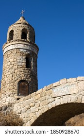 Historical Church Tower on top of the mount Rubidoux