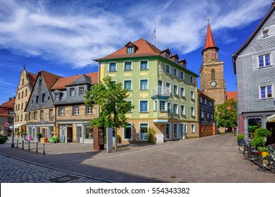 Historical city center of Furth town by Nuremberg, Bavaria, Germany