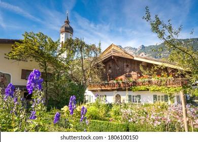 Historical city of Garmisch-Partenkirchen, Bavaria, Germany