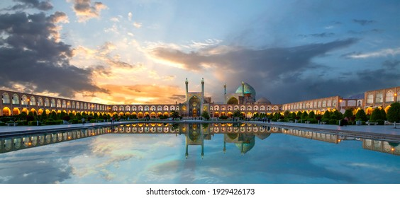 Historical city square of Isfahan, at the sunrise known also as Naqshejahan Square or Imam Square, Iran